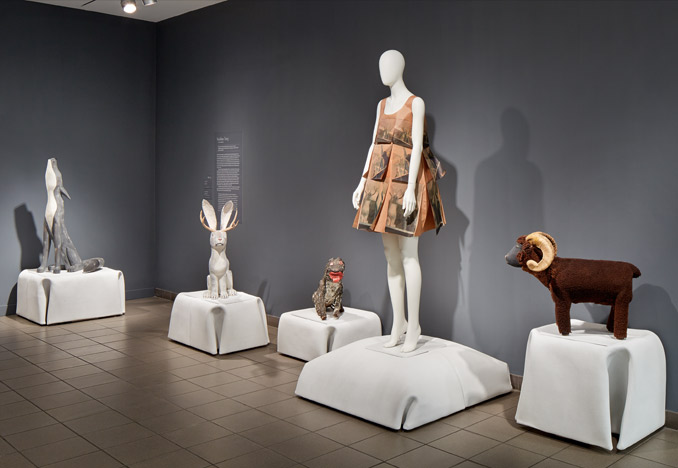 Folk Couture: Fashion and Folk Art, American Folk Art Museum, 2014. Photograph by John Muggenborg