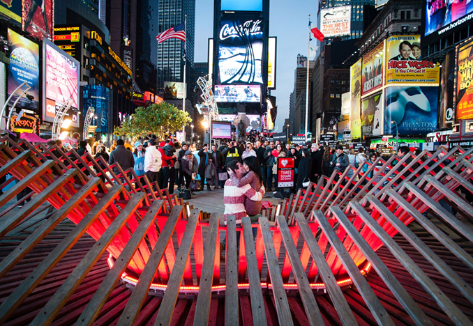 Heartwalk, Times Square, NY, 2013 <br>Photograph by Keith Sirchio
